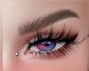 dual blue /red eyes