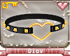 *D* Heart Choker Black G