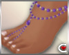 *SC-Bead Sandals Violet