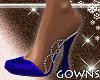 Jeweled Heels Blue