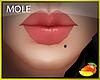 Mole lower lip left