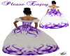 white&purple gown
