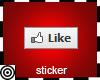 *m Like Sticker