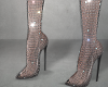 Sparkle fishnet boots.