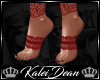 ♔K Lace Feet Red