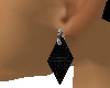 Charcoal Diamond Earring