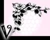 -V- B&W corner flowers L