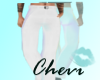 Stem Wedding Pants White