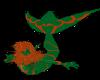 Orange Rose merman tail
