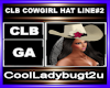 CLB COWGIRL HAT LINE#2