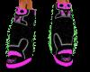 pink skelanimal boots