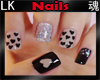 *LK* Nails Black Hearts