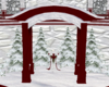 Red/Silver Snow Arch