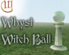 Witch Ball - Green Glass