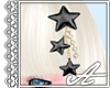 Deco Star Hairpin~ Black