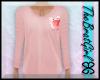 BG Pink Piggy PJs Top M
