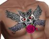tatoo peitoral caveira