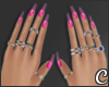 !© Mani and Rings Pink