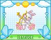 Cupid Bunny Badge