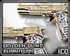 ICO Furniture Gold Guns