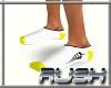 {DR} Socks White Yellow