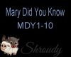 ~Mary Did You Know~