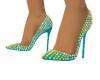 Light Blue Spike Heels