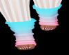 Blue & Pink Leg Warmers