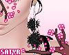 Black Fluffy Earrings
