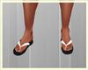 White Flip Flops
