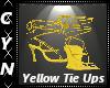 Yellow Tie Up Pumps