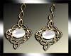 white Celtic earrings