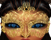 Gold Lace Face Mask