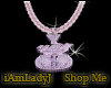 MoneyBag Chain pink