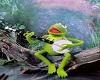 Kermit banjo wall poster
