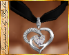 I~Diamond Heart Choker