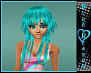 Fashion Teal Hair Kawaii