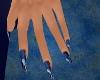 Brilliant Blue Nails
