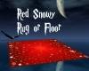 Red Snowy Rug or Floor
