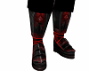red rave boots