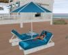 Ocean blue lounger