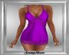 Purple Satin Mini Dress