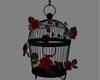Red Rose Bird Cage