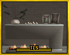 Homey fireplace