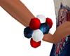 Red Whte & Blue Bracelet