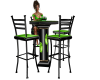 green neon kiss table