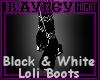 [R] B&W Loli Boots