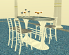 CAFE TABLE BLUE & WHITE
