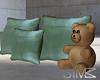 Floor pillows with teddy