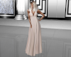 Tan Empire Gown